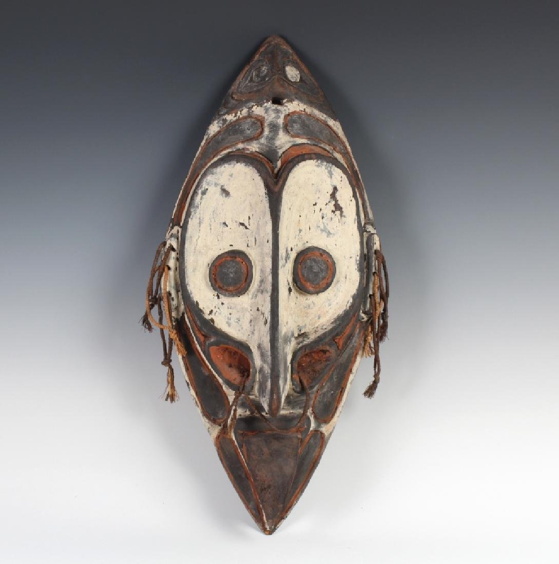 African Ceremonial Tribal Figural Face Mask Shield