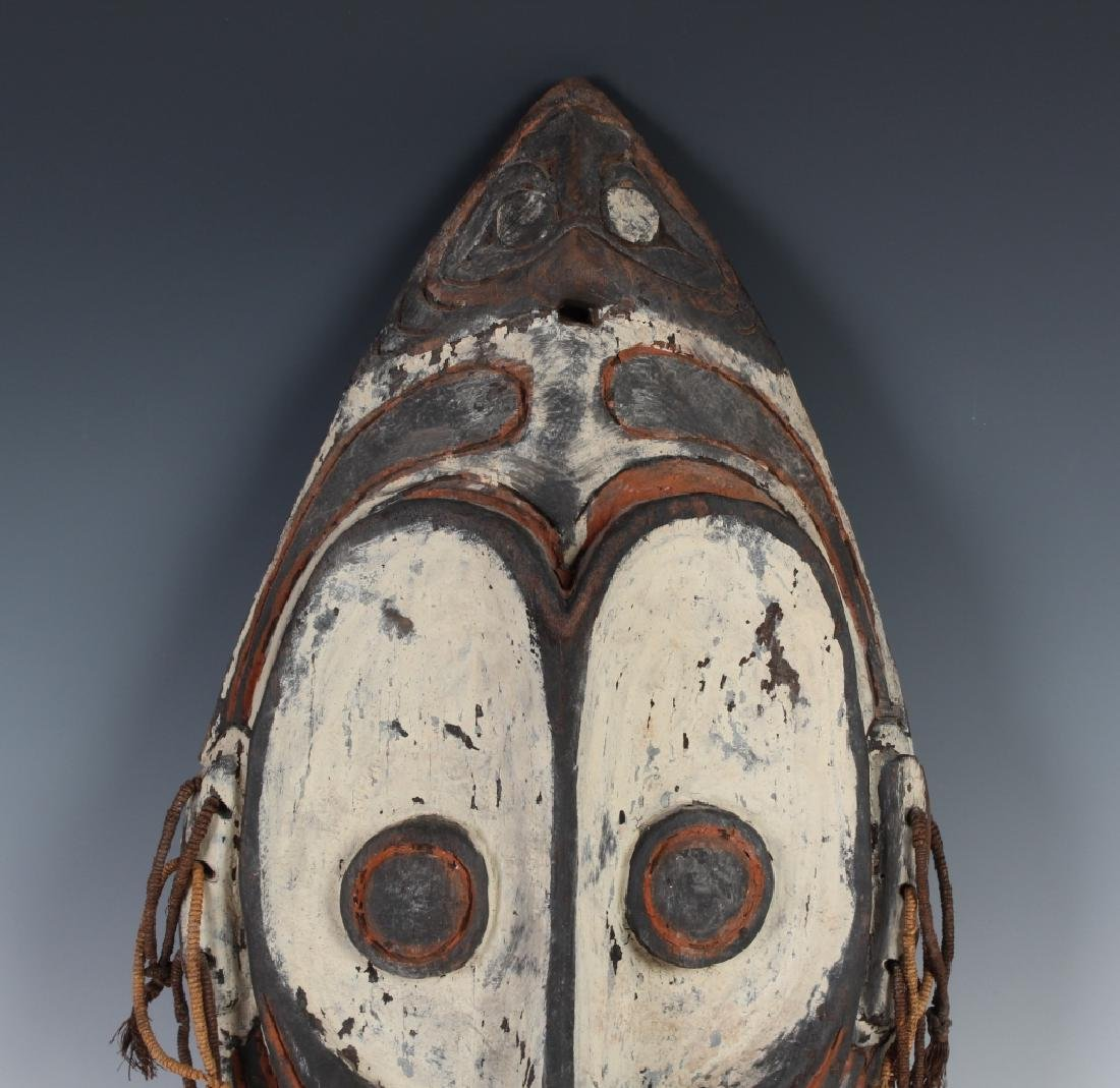 African Ceremonial Tribal Figural Face Mask Shield - 2