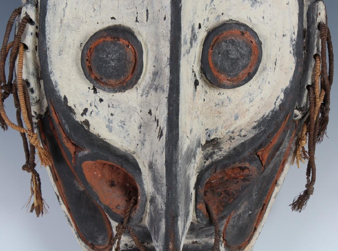 African Ceremonial Tribal Figural Face Mask Shield - 4