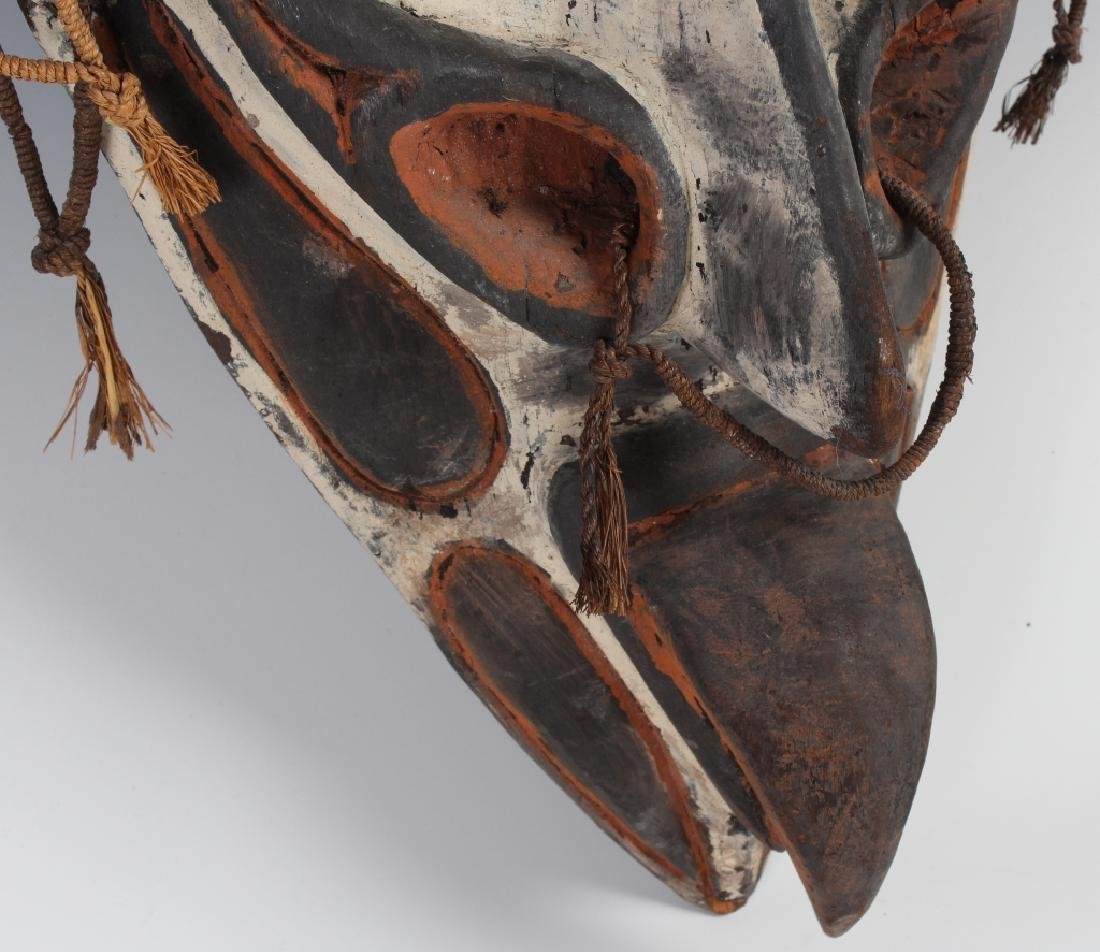 African Ceremonial Tribal Figural Face Mask Shield - 5