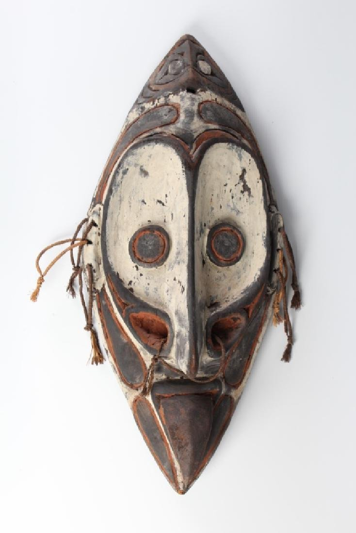 African Ceremonial Tribal Figural Face Mask Shield - 6