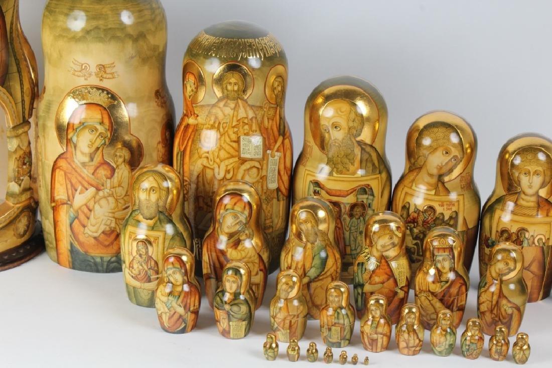 RARE 30 Pcs Matryoshka Russian Icon Nesting Dolls - 3