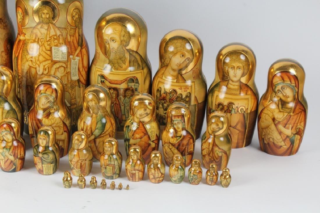 RARE 30 Pcs Matryoshka Russian Icon Nesting Dolls - 4