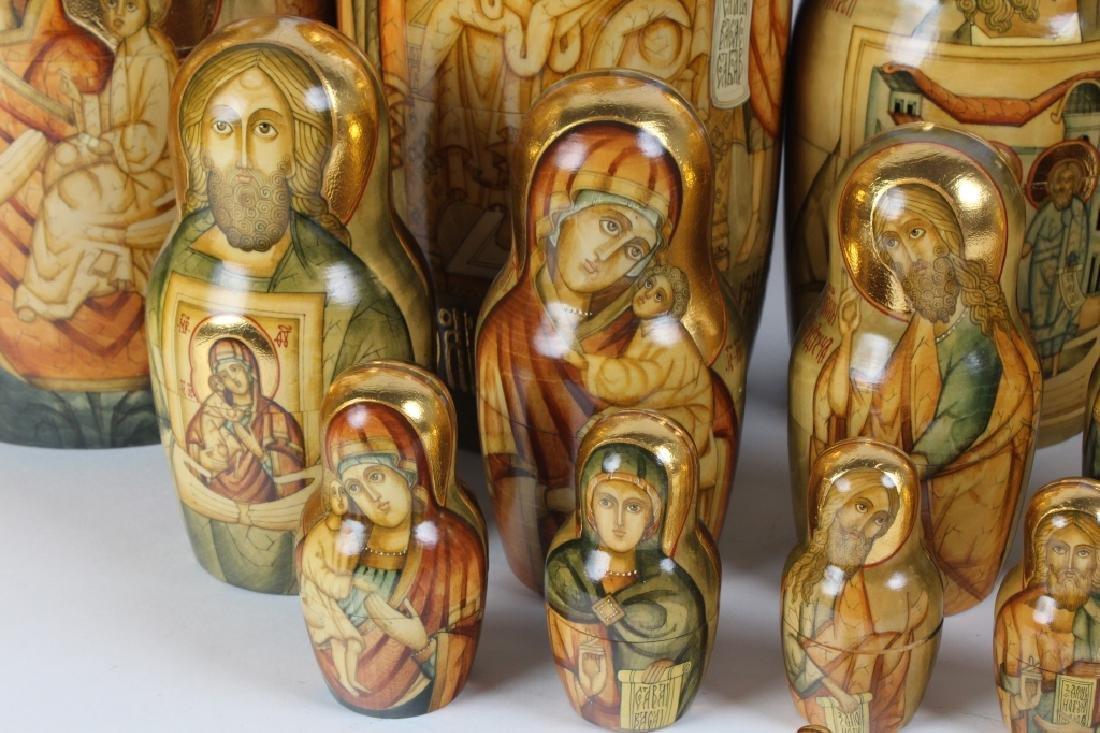 RARE 30 Pcs Matryoshka Russian Icon Nesting Dolls - 5