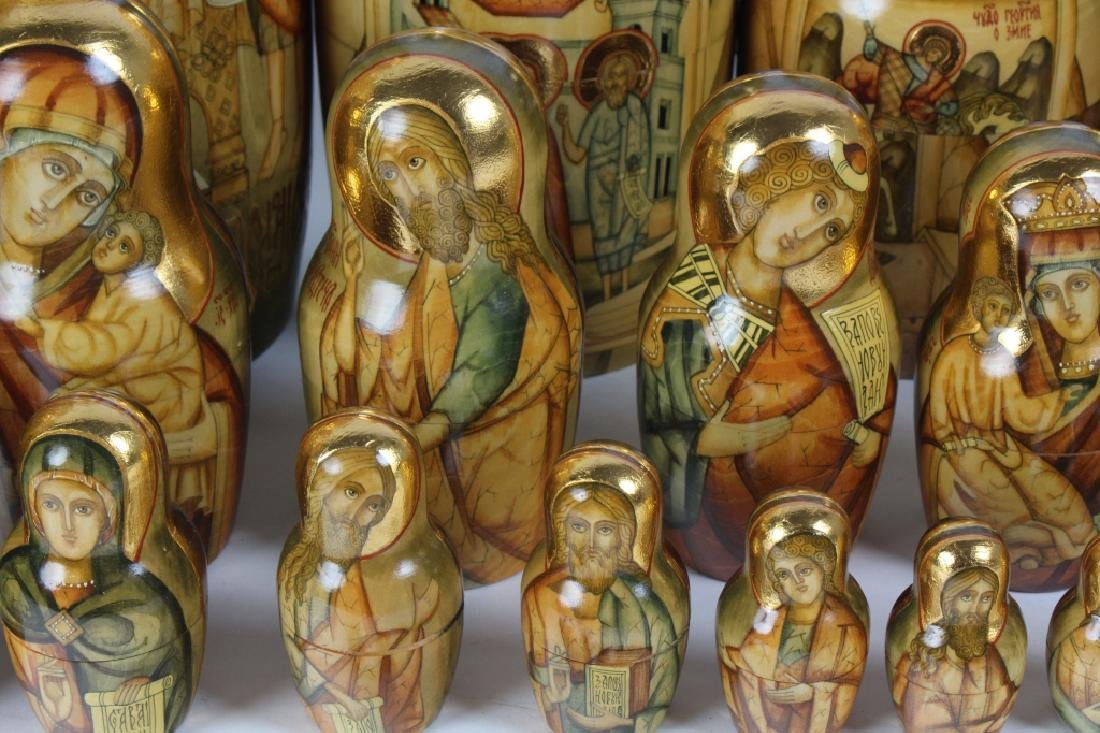 RARE 30 Pcs Matryoshka Russian Icon Nesting Dolls - 6
