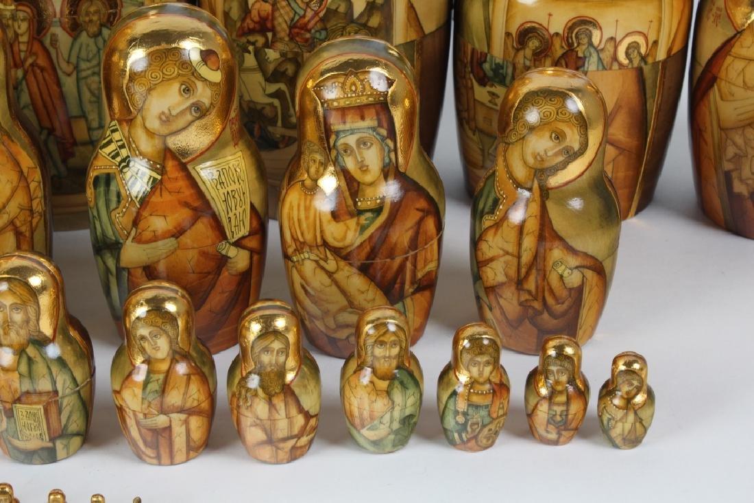 RARE 30 Pcs Matryoshka Russian Icon Nesting Dolls - 7