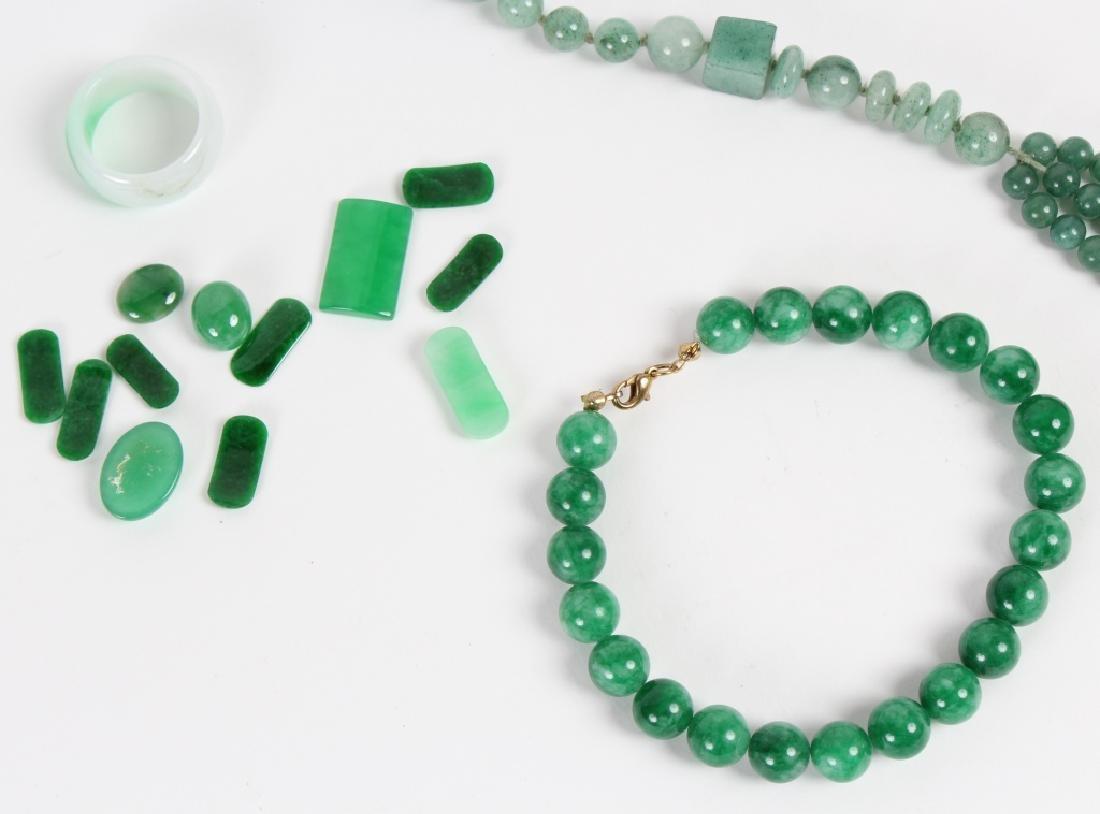 18pc LOT Jade & Aventurine & Bone Jewelry Stones - 2