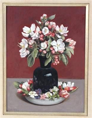 Gerard VA Roling Floral Still Life Oil Painting