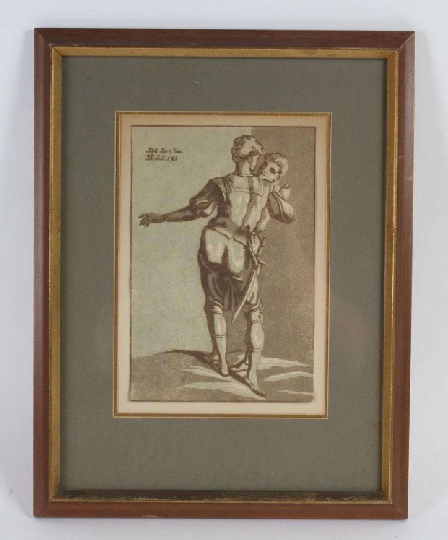 John Skippe After Del Sarto Chiaroscuro Woodcut - 2