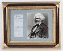 Authentic Frederick Douglas Autograph w/ Photos