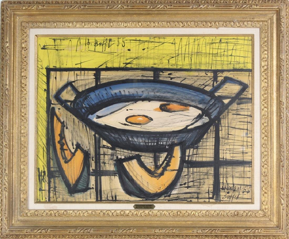 Bernard Buffet (1928-1999) Fruit Still Life Painting