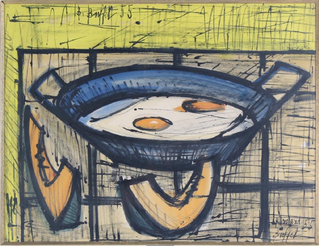 Bernard Buffet (1928-1999) Fruit Still Life Painting - 2