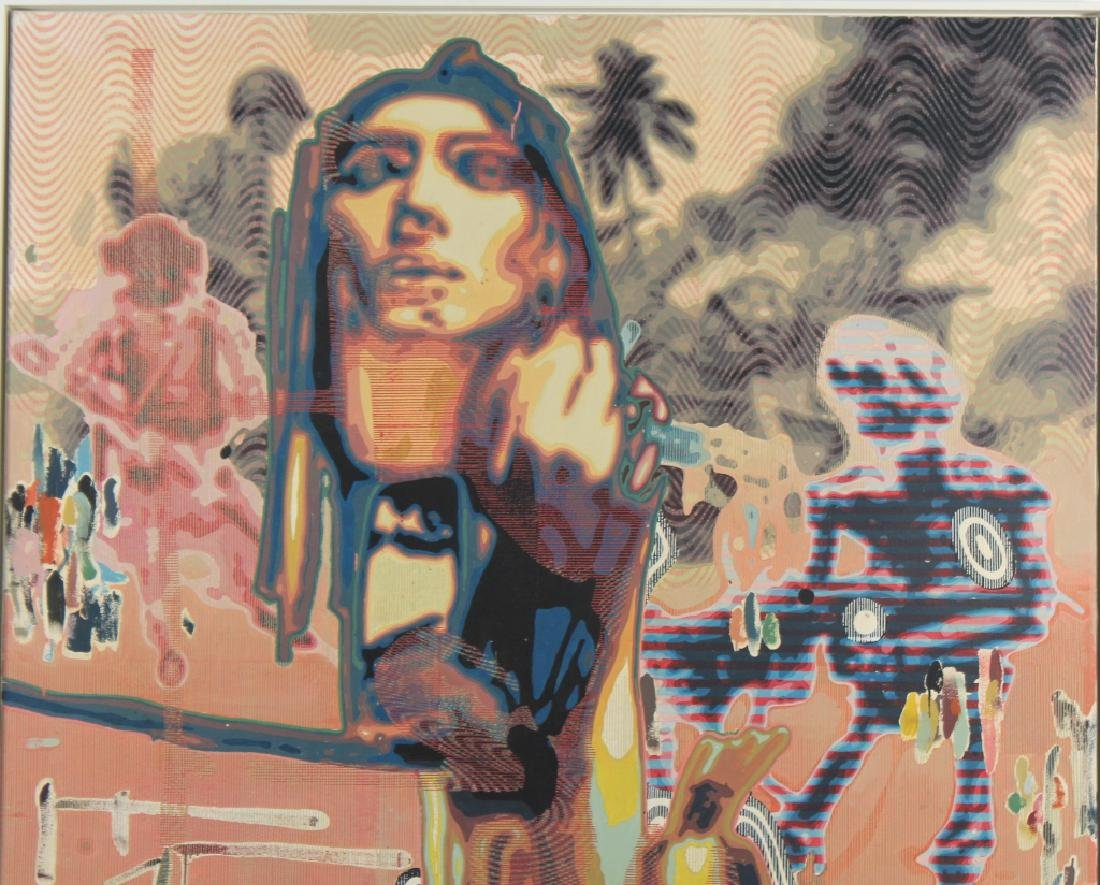 Markus Oehlen (b.1956) German 79x59 Surreal Painting - 2