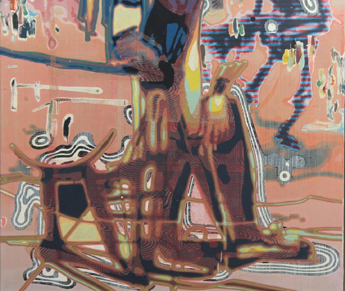 Markus Oehlen (b.1956) German 79x59 Surreal Painting - 5