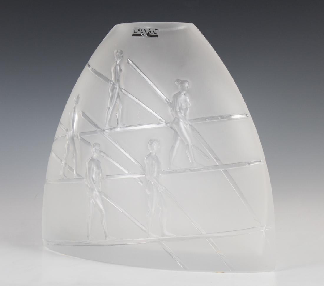 Lalique French Crystal Ariel Aeriens Art Glass Vase MIB