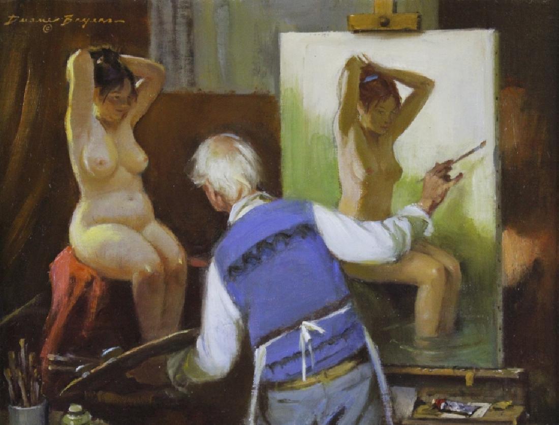 Duane Bryers 1911-2012 American Nude Oil Painting
