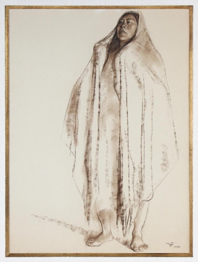 Francisco Zuniga (1912-1998) Mexican Woman Drawing