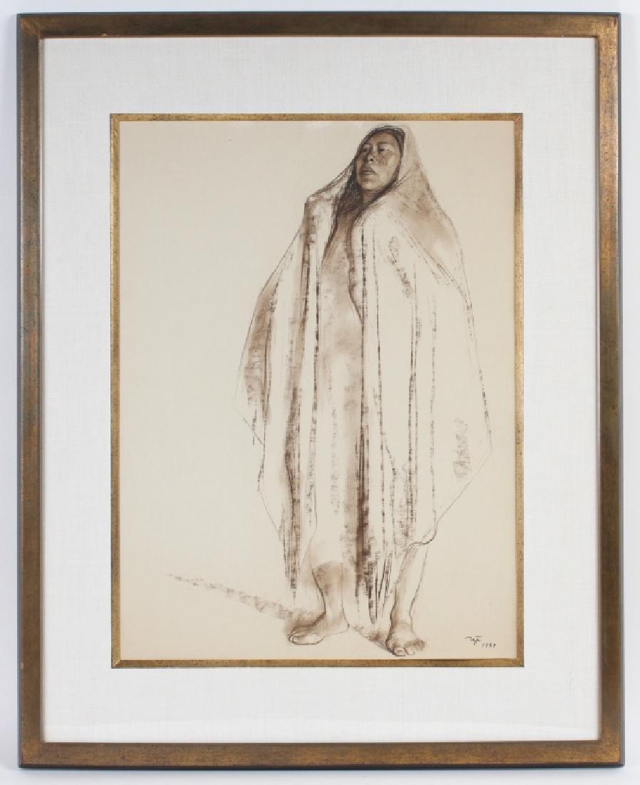 Francisco Zuniga (1912-1998) Mexican Woman Drawing - 2