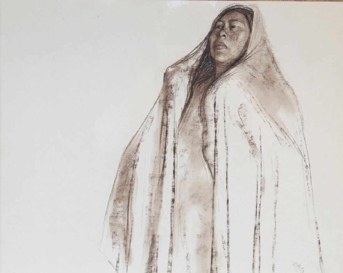 Francisco Zuniga (1912-1998) Mexican Woman Drawing - 3