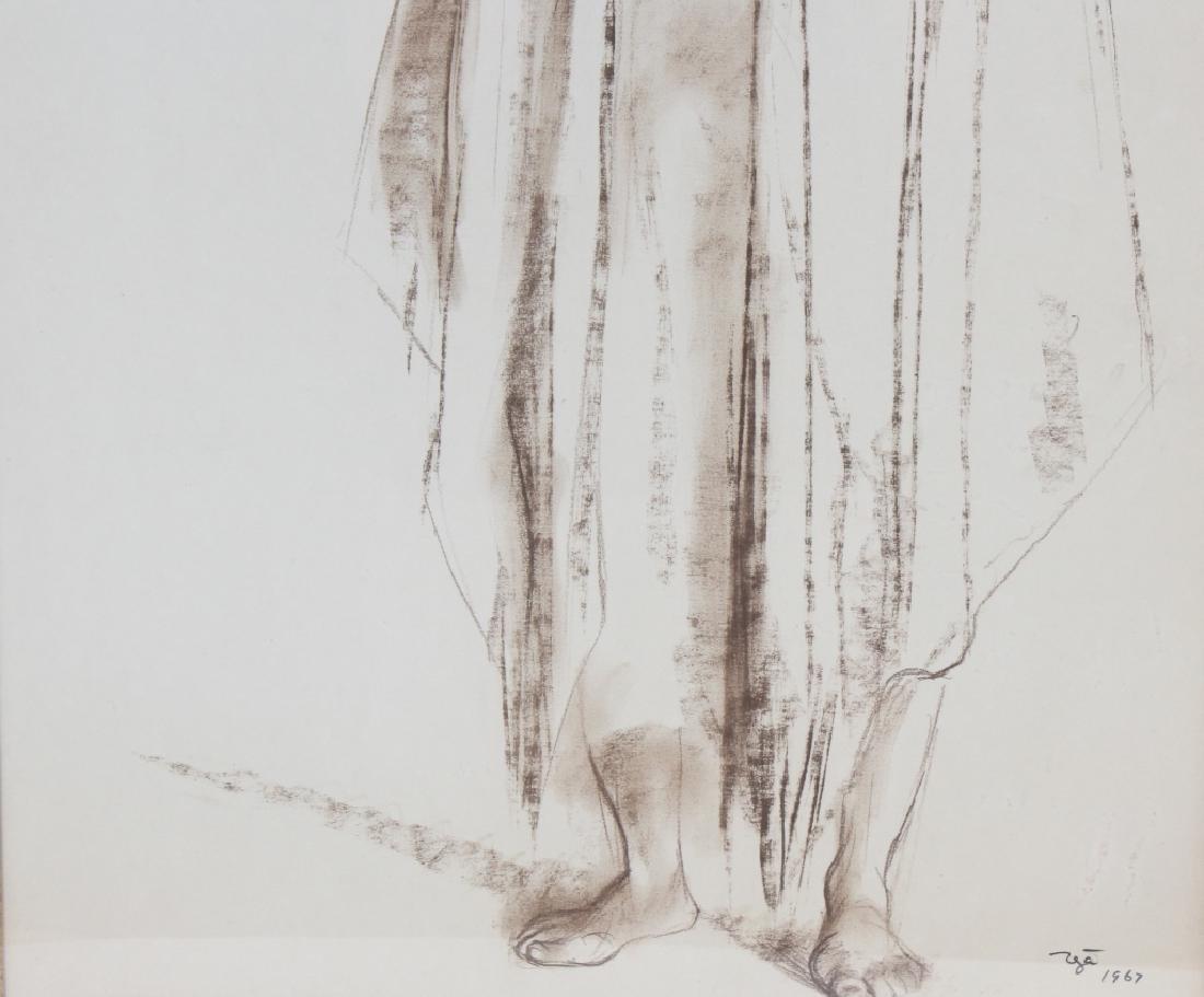 Francisco Zuniga (1912-1998) Mexican Woman Drawing - 4