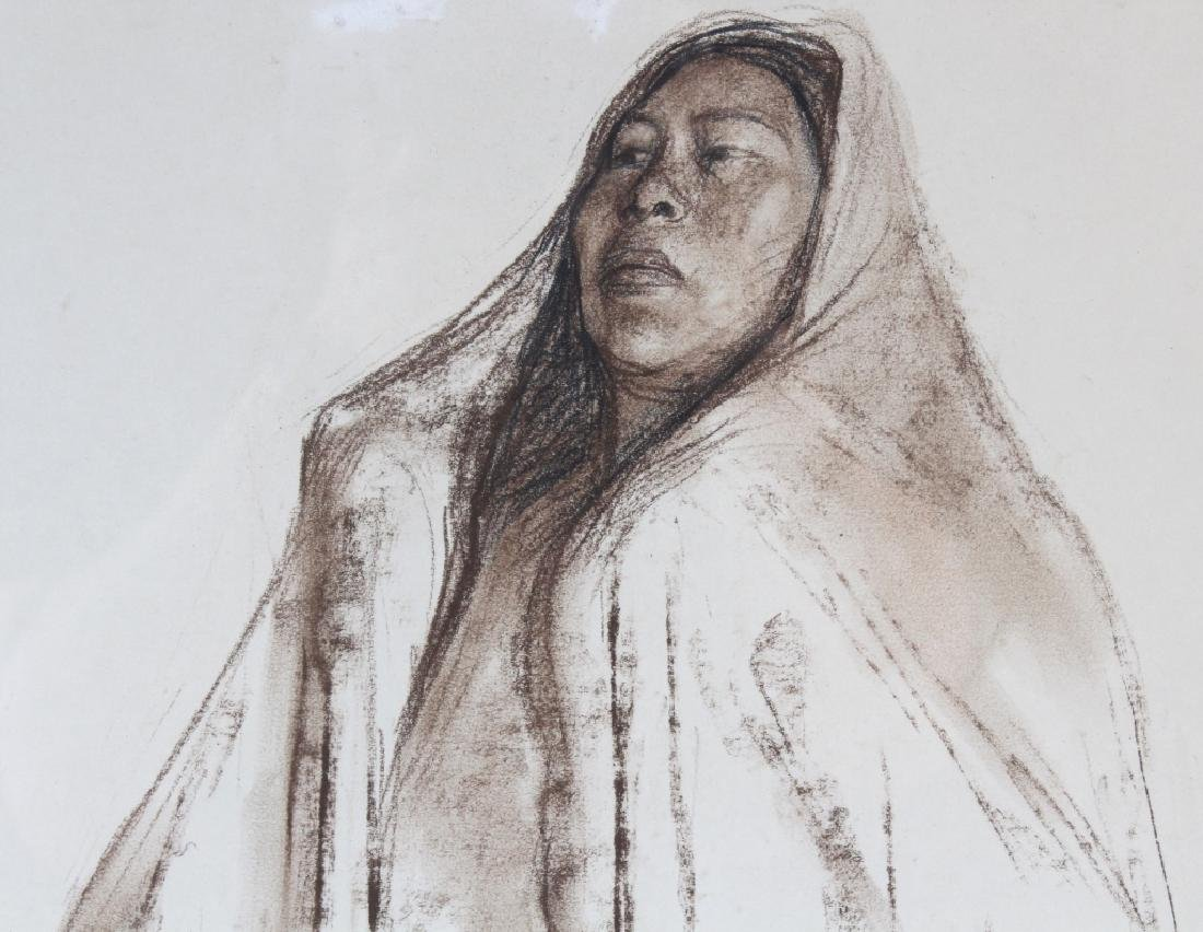 Francisco Zuniga (1912-1998) Mexican Woman Drawing - 6