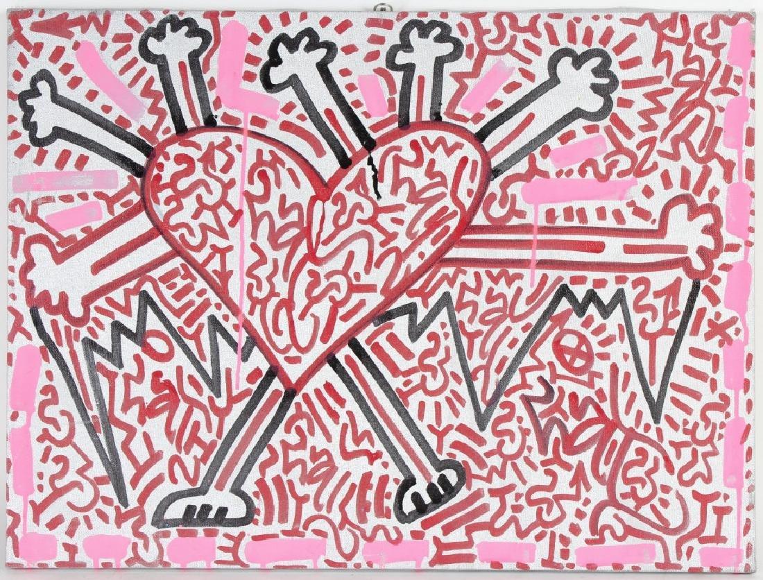 Angel Oritz LA II Graffiti Art Painting Keith Haring