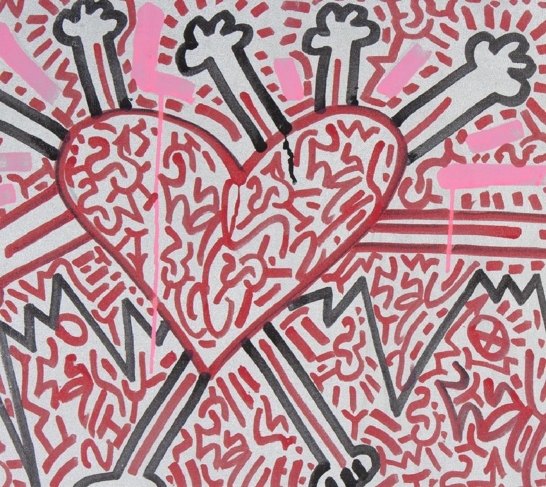 Angel Oritz LA II Graffiti Art Painting Keith Haring - 2