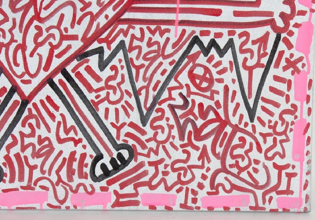 Angel Oritz LA II Graffiti Art Painting Keith Haring - 4