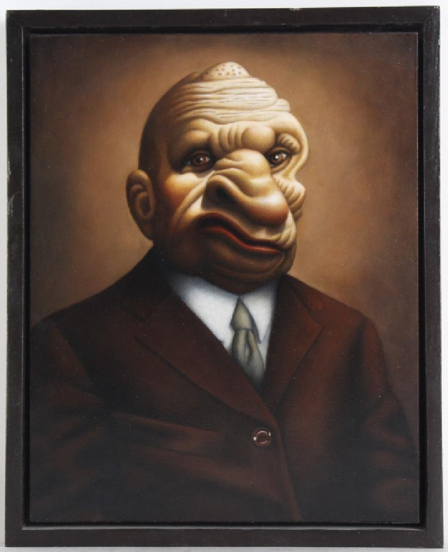 """Amy Hill American """"MOBSTER"""" Portrait Art Oil Painting"""