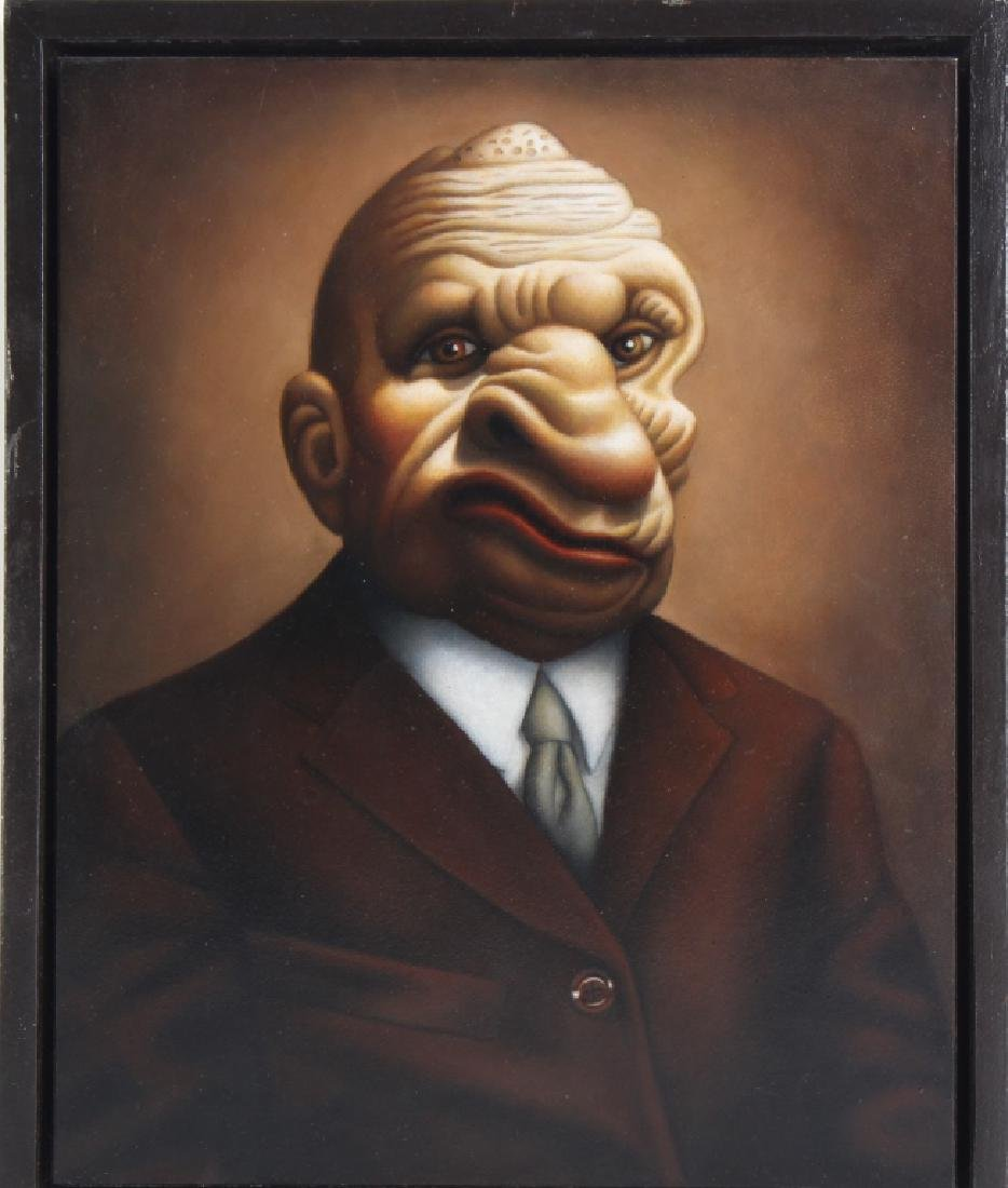 """Amy Hill American """"MOBSTER"""" Portrait Art Oil Painting - 2"""