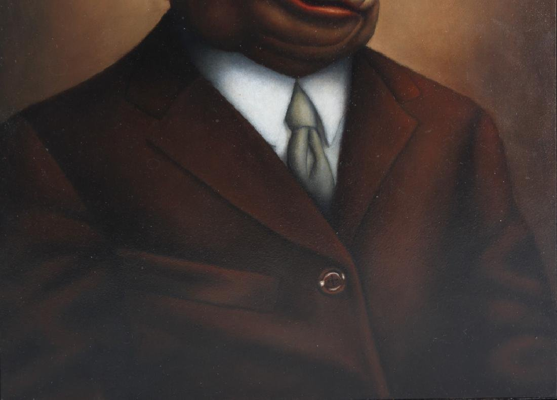"""Amy Hill American """"MOBSTER"""" Portrait Art Oil Painting - 4"""