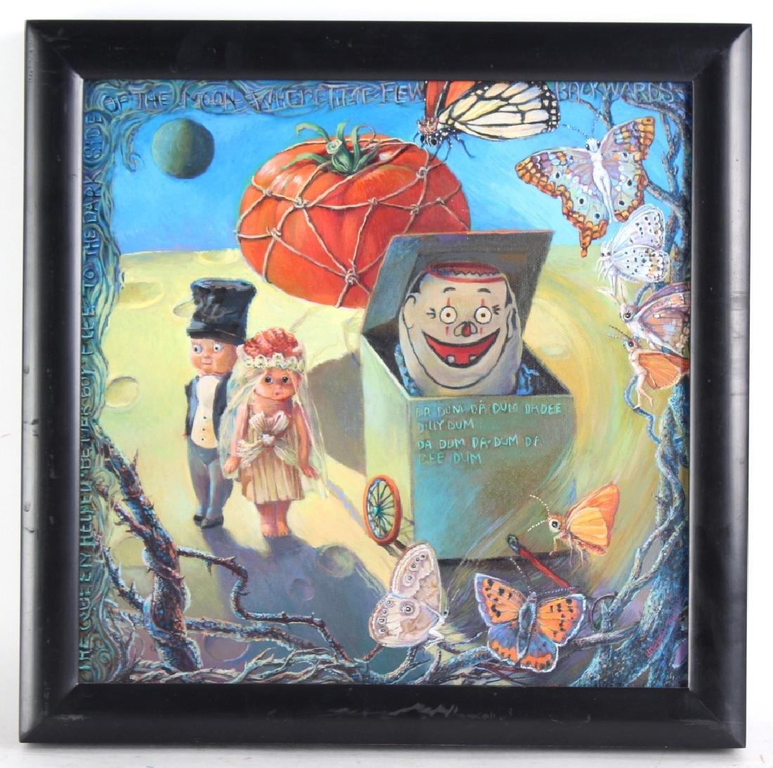 Jo Ellen Trilling American Surrealist Art Oil Painting