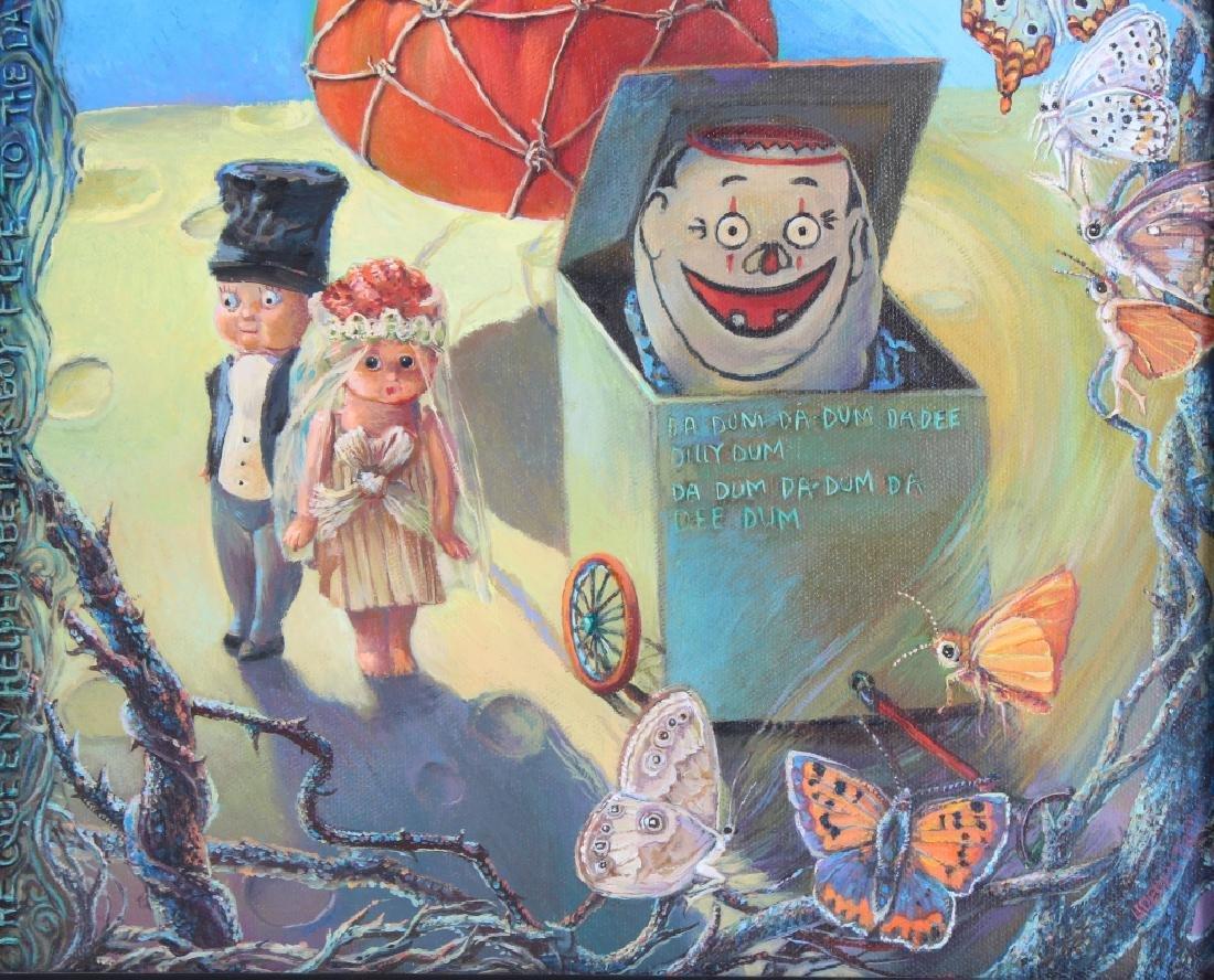 Jo Ellen Trilling American Surrealist Art Oil Painting - 4