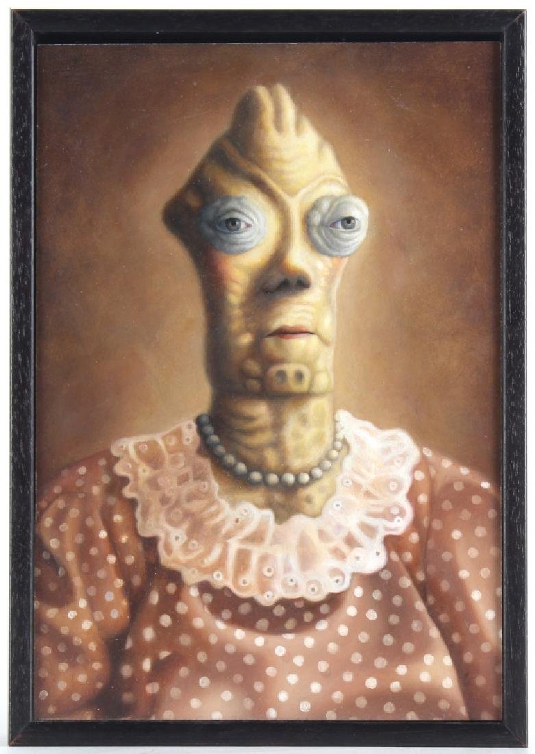Amy Hill American MARGE Portrait Art Oil Painting