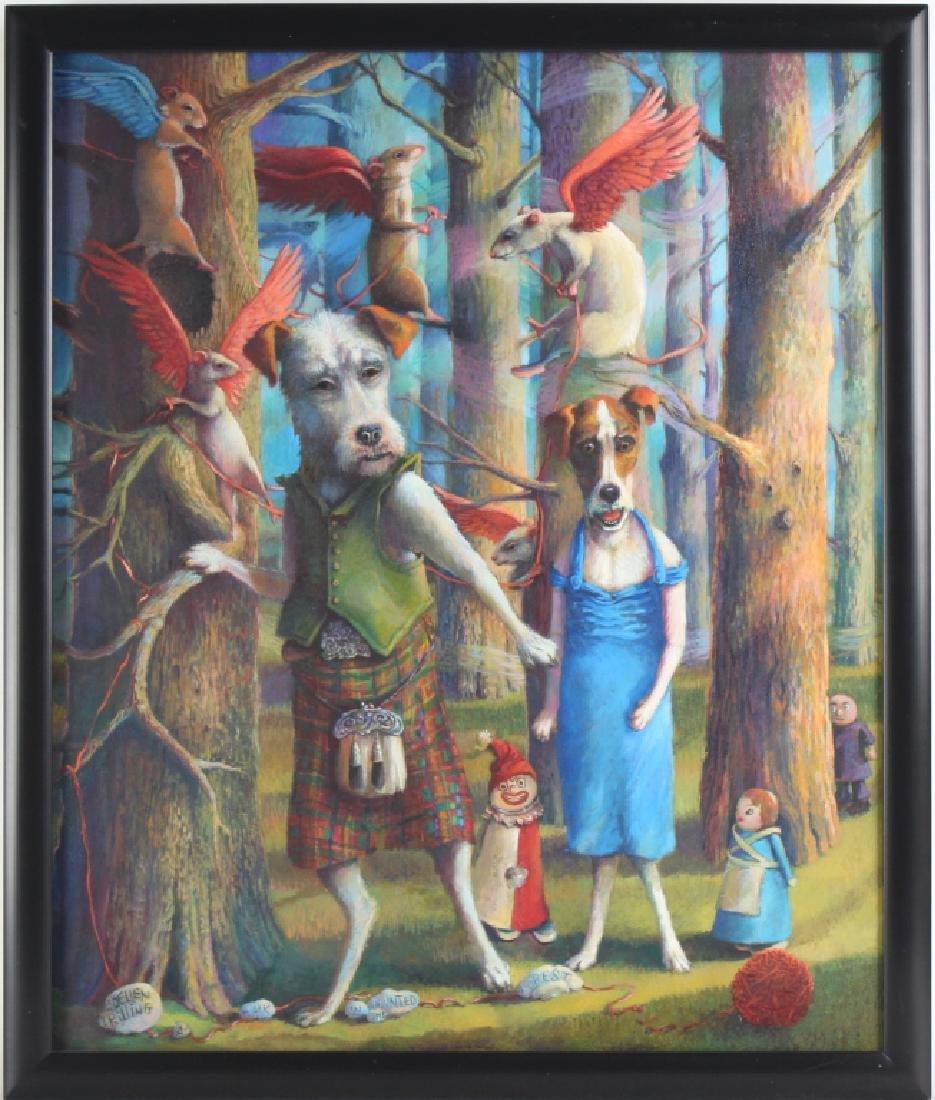 Jo Ellen Trilling American Surreal Dogs Painting - 2