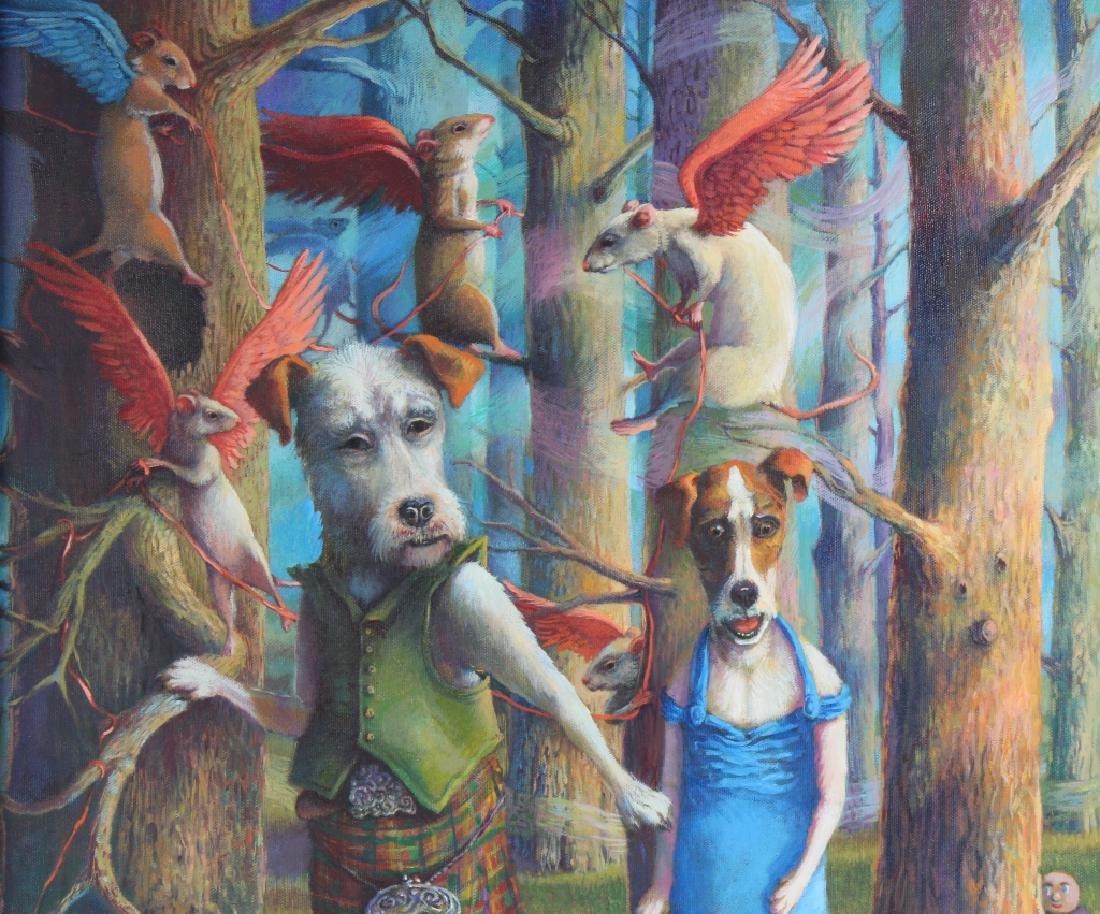 Jo Ellen Trilling American Surreal Dogs Painting - 3