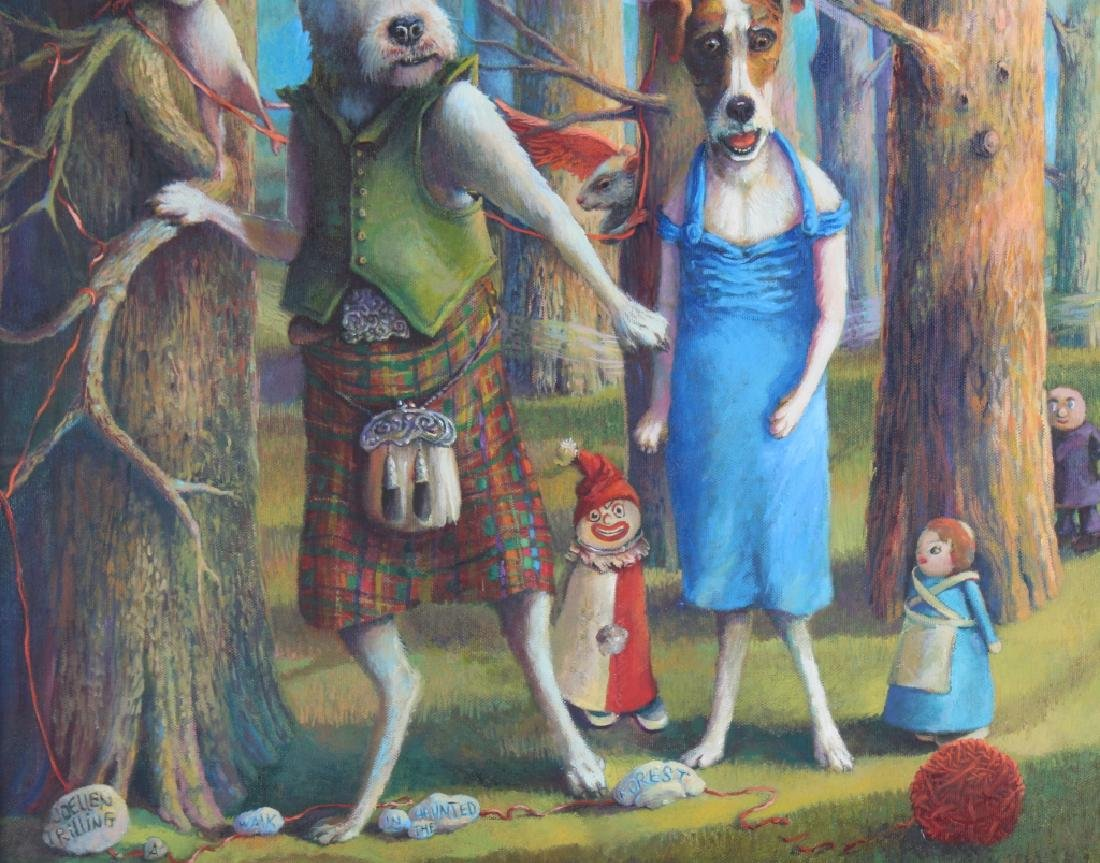 Jo Ellen Trilling American Surreal Dogs Painting - 4
