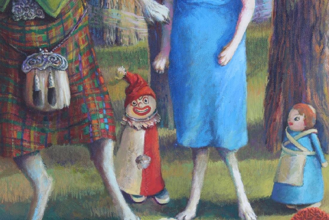 Jo Ellen Trilling American Surreal Dogs Painting - 5