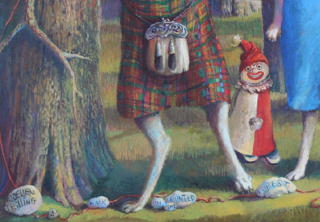 Jo Ellen Trilling American Surreal Dogs Painting - 7