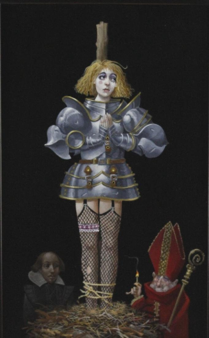 James Christensen American Surrealist Art Oil Painting