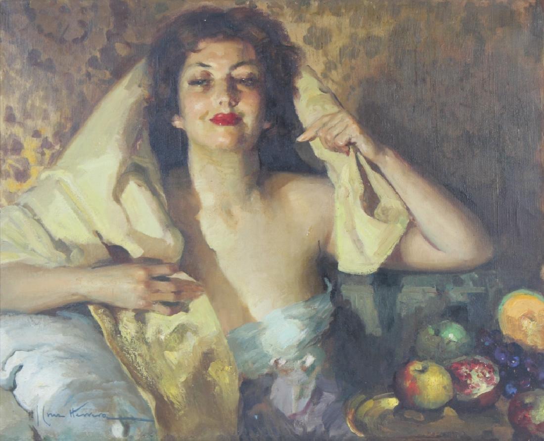 Jose Cruz Herrera (1890-1972) Spanish Art Oil Portrait - 2