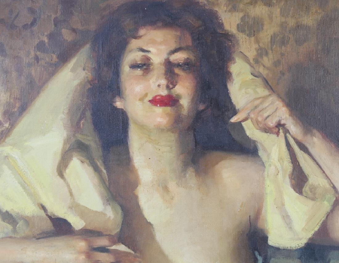 Jose Cruz Herrera (1890-1972) Spanish Art Oil Portrait - 4