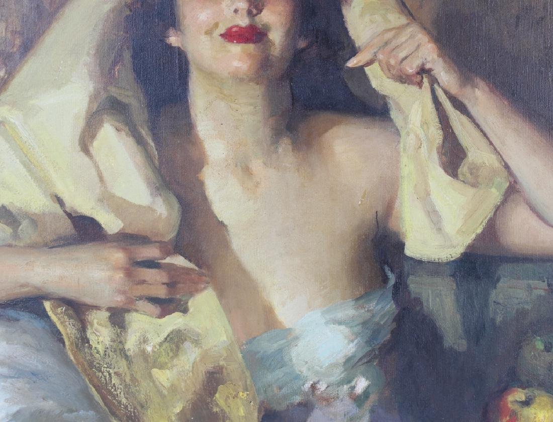 Jose Cruz Herrera (1890-1972) Spanish Art Oil Portrait - 6