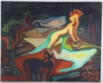 Anriko Wensi American Modern Surreal Art Oil Painting