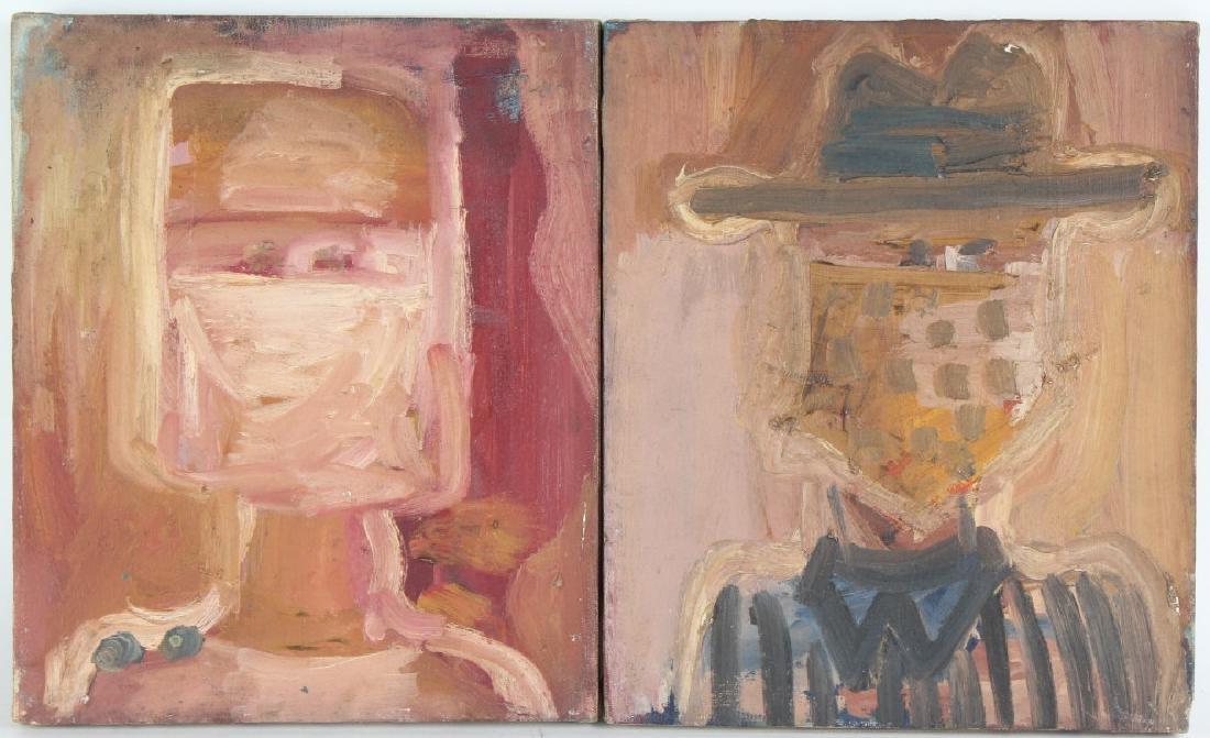 Patricia Sloane b.1934 American Art Portrait Paintings