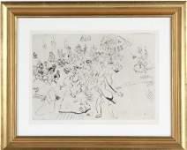 Marc Chagall Bal Chez Le Gouverneur LE Art Etching