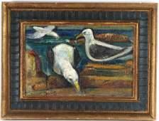 Maurice Becker 18891975 Gulls Bird Oil Painting Art