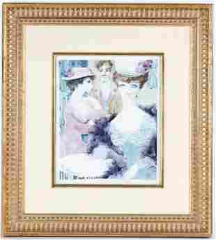Rosenthal Lis Muller Porcelain Portrait Art Plaque