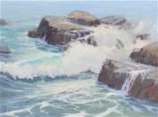 Robert Pummill b.1936 American Art Seascape Painting