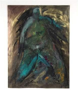 Anita LeMay Mixed Media Figural Abstract Art Painting